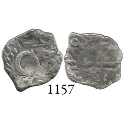 Potosí, Bolivia, cob 1/2 real, 1701, posthumous Charles II, scarce.