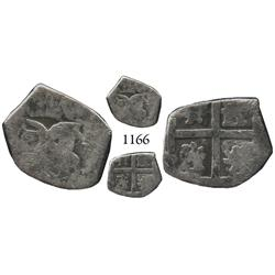 Bogotá, Colombia, cob 1/2 real, Philip IV, assayer not visible, quadrants of cross typically transpo
