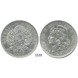 Argentina, peso, 1882.