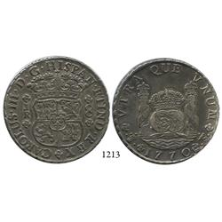 Potosí, Bolivia, pillar 8 reales, Charles III, 1770JR.