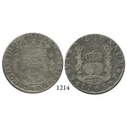 Potosí, Bolivia, pillar 4 reales, Charles III, 1768JR.