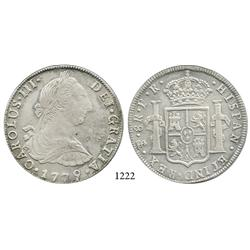 Potosí, Bolivia, bust 8 reales, Charles III, 1779PR.