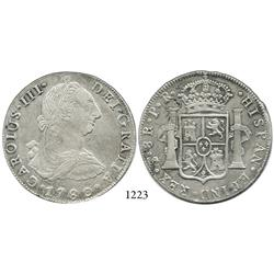 Potosí, Bolivia, bust 8 reales, Charles III, 1780/9PR.