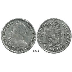 Potosí, Bolivia, bust 8 reales, Charles III, 1781PR.
