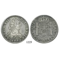 Potosí, Bolivia, bust 4 reales, Charles III, 1774JR.