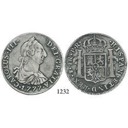 Potosí, Bolivia, bust 4 reales, Charles III, 1777PR.
