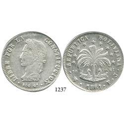 Potosí, Bolivia, 8 soles, 1861FJ.