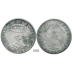 """Santiago, Chile, """"volcano"""" peso, 1817FJ."""
