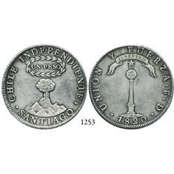 """Santiago, Chile, """"volcano"""" peso, 1820FD."""