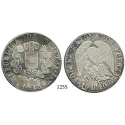 Santiago, Chile, 8 reales, 1848JM.