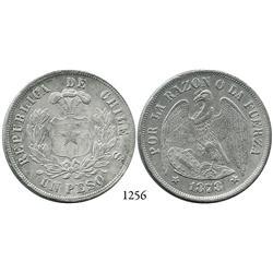 Santiago, Chile, peso, 1878.
