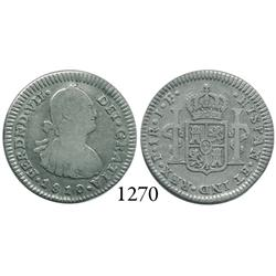 Popayán, Colombia, bust 1 real, Ferdinand VII, 1810JF.