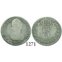 Bogotá, Colombia, bust 1 real, Ferdinand VII, 1816FJ.