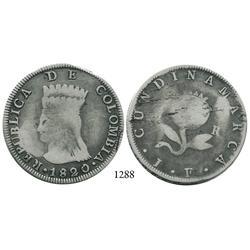 Bogotá, Colombia, 8 reales, 1820JF.