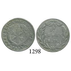 Popayán, Colombia, 1 real, 1831RU.