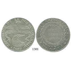 Bogotá, Colombia, 8 reales, 1839RS.