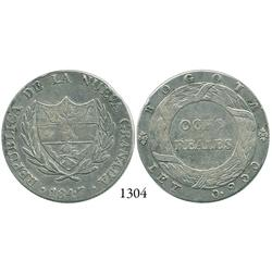 Bogotá, Colombia, 8 reales, 1847, small diameter.