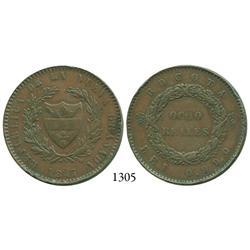 Bogotá, Colombia, pattern 8 reales, 1847.