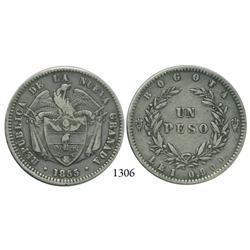 Bogotá, Colombia, 1 peso, 1855/1.