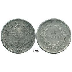 Bogotá, Colombia, 1 peso, 1855.