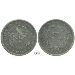 Bogotá, Colombia, 1 peso, 1856/5.