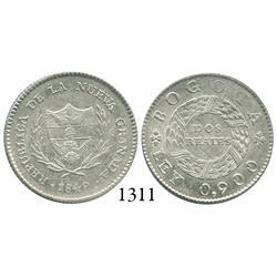 Bogotá, Colombia, 2 reales, 1849.