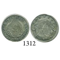Popayán, Colombia, 1/2 real, 1846/5UE.