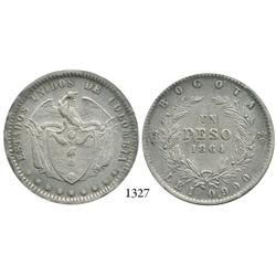 Bogotá, Colombia, 1 peso, 1864.