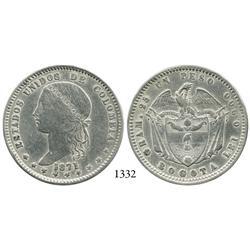Bogotá, Colombia, 1 peso, 1871.