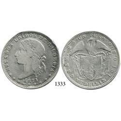 Medellín, Colombia, 1 peso, 1871.