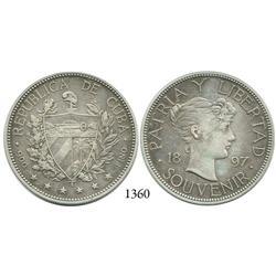 """Cuba, """"souvenir"""" peso, 1897."""
