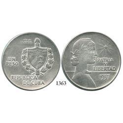 """Cuba, """"ABC"""" peso, 1937, rare."""