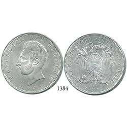 Ecuador (struck in Mexico City, Mexico), 5 sucres, 1944.