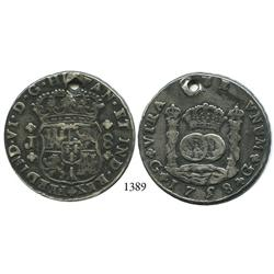 Guatemala City, Guatemala, pillar 8 reales, Ferdinand VI, 1758J.