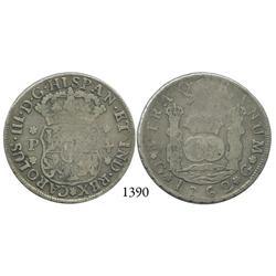 Guatemala City, Guatemala, pillar 4 reales, Charles III, 1762P.