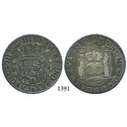 Guatemala City, Guatemala, pillar 4 reales, Charles III, 1768P.