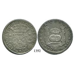 Guatemala City, Guatemala, pillar 4 reales, Charles III, 1769P.