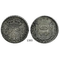 Guatemala City, Guatemala, pillar 4 reales, Charles III, 1771P.