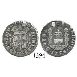 Guatemala City, Guatemala, pillar 1 real, Ferdinand VI, 1758J.