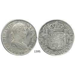 Guatemala City, Guatemala, bust 8 reales, Ferdinand VII, 1818M.