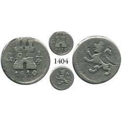Guatemala City, Guatemala, 1/4 real, Ferdinand VII, 1810.