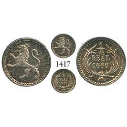 Guatemala City, Guatemala, 1/4 real, 1860.