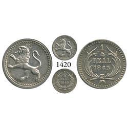 Guatemala City, Guatemala, 1/4 real, 1863.