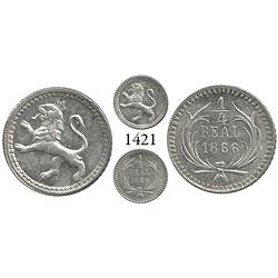 Guatemala City, Guatemala, 1/4 real, 1866.