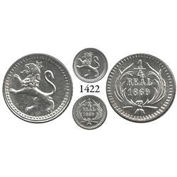 Guatemala City, Guatemala, 1/4 real, 1869.