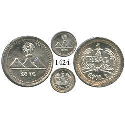 Guatemala City, Guatemala, 1/4 real, 1876P.