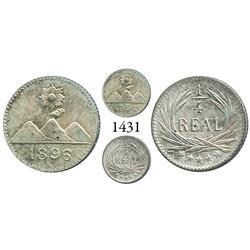 Guatemala City, Guatemala, 1/4 real, 1896.