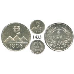 Guatemala City, Guatemala, 1/4 real, 1898.