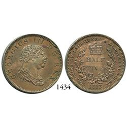 Essequibo and Demerary (colonial coinage), copper half stiver token, George III, 1813.