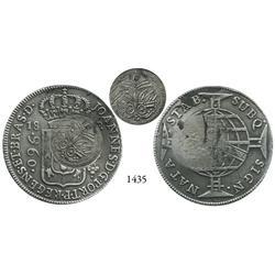 Haiti, 25 centimes(?) countermark (1814-16?) on a Brazilian 960 reis, 1812-B.